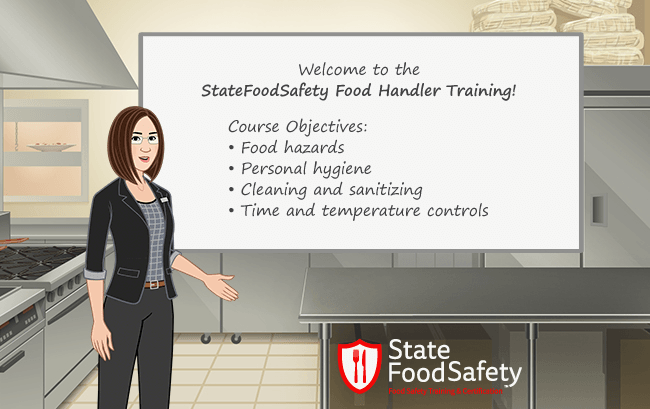 Food handler welcome information slide