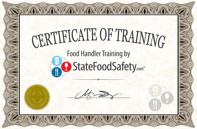 food handlers card & safety permit online | statefoodsafety.com